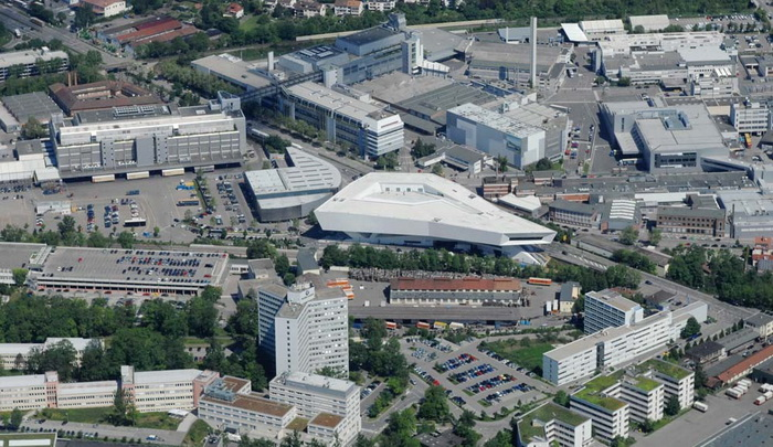 Aerial view of Zuffenhausen