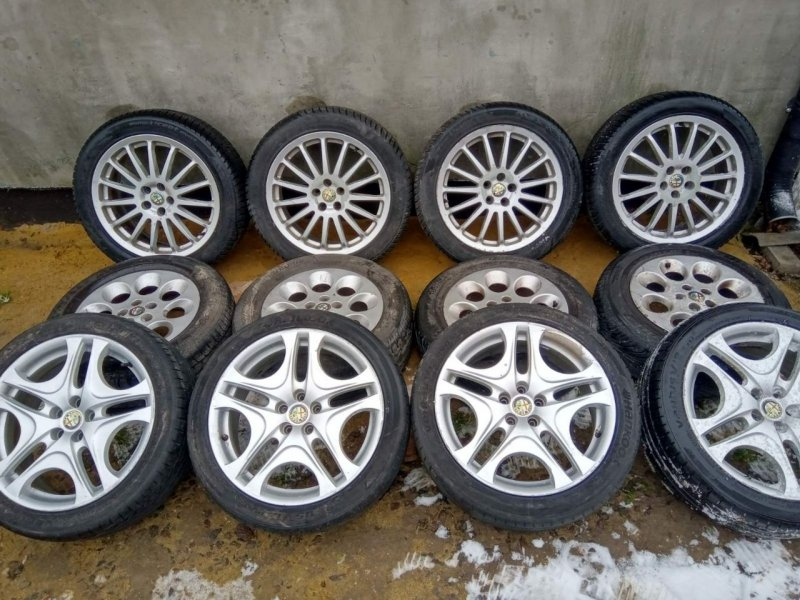 used oroginal wheels 5-98 R17 in good condition for Alfa Romeo 147, 156 and GT