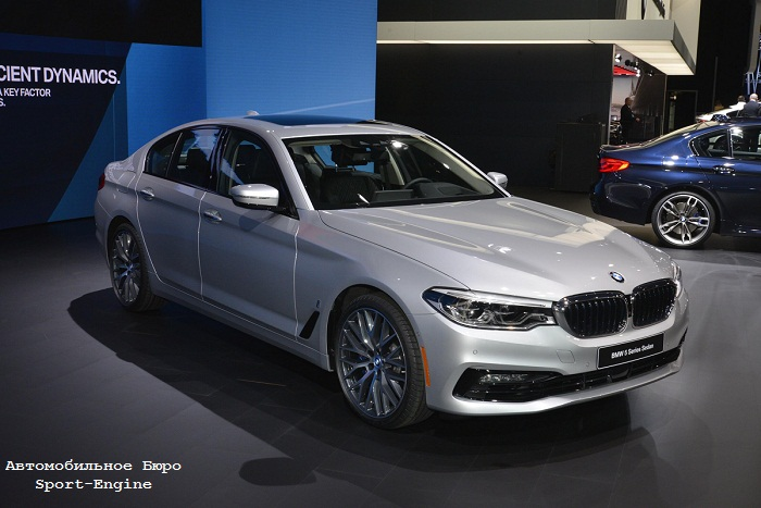 BMW 5 Series G30 2017 debut in Detroit
