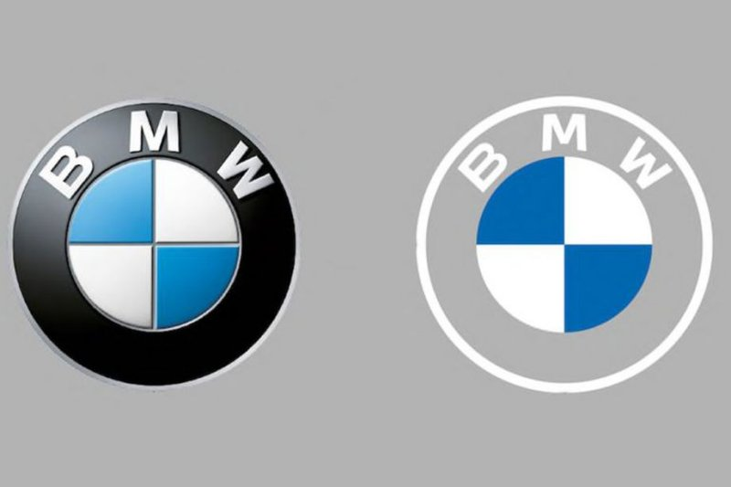 BMW logo on the vehicles remains in use, new BMW logo for online and offline communication