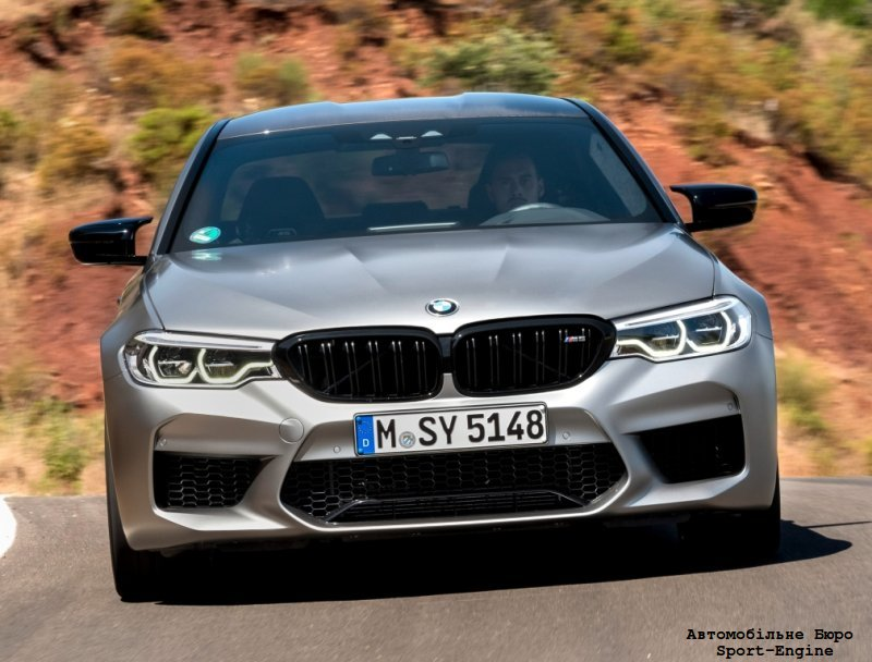 comparison BMW M5 Competition, Porsche Taycan Turbo S and Tesla Model S P100D