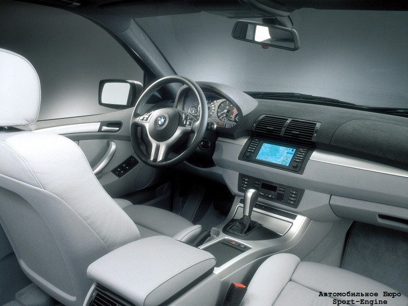BMW X5 3.0d first generation (E53) 2001-2003 interior
