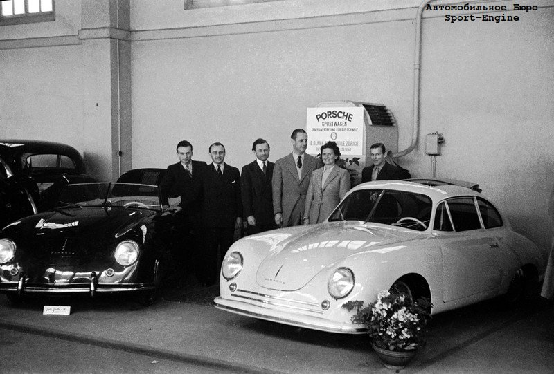 world premiere first ever Porsche - model 356 in Cabrio and Coupe bodies