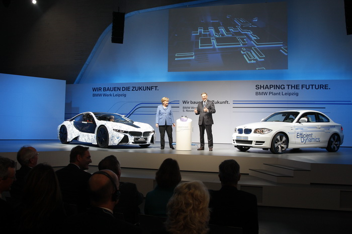 German Chancellor Dr Angela Merkel and Dr Norbert Reithofer, Chairman of the Board of Management of BMW AG. Nov-2010